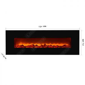 شومینه | شومینه برقی ال سی دی | شومینه اچ بی | شومینه دیواری | شومینه برقی دیواری | HB-023-150