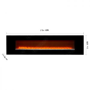 شومینه | شومینه برقی ال سی دی | شومینه اچ بی | شومینه دیواری | شومینه برقی دیواری | HB-023-190