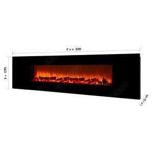 شومینه | شومینه برقی ال سی دی | شومینه اچ بی | شومینه دیواری | شومینه برقی دیواری | HB-023-200